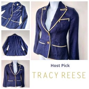 Plenty by Tracy Reese Blazer Size 6 100% Linen